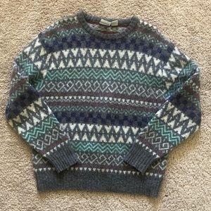 Italian Oversized Virgin Wool Grandpa Sweater XL